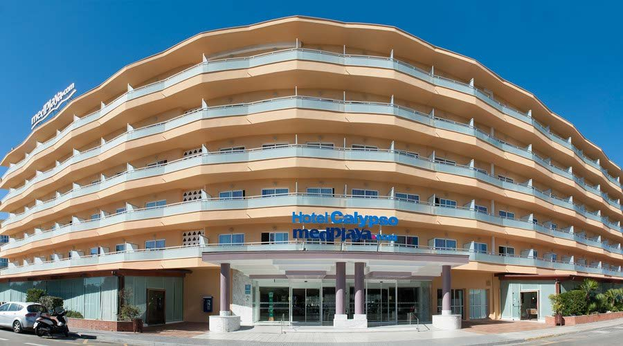Outside calypso hotel salou